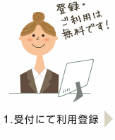受付にて利用登録